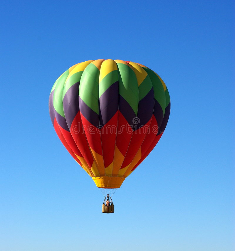 Hot Air Ballon And Clear Sky stock photos