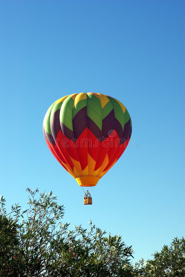 Hot Air Ballon And Clear Sky stock photography