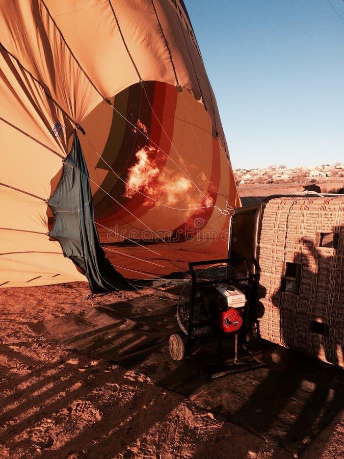 Hot air ballon ride stock images