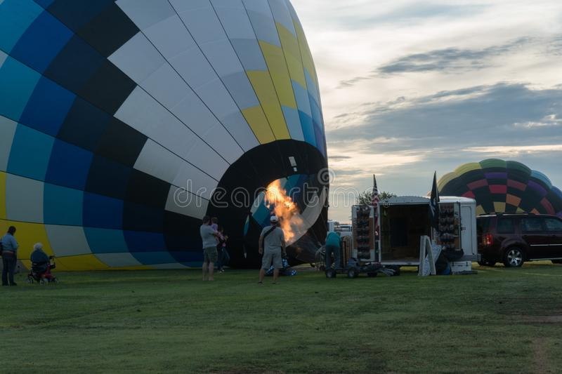Hot Air Balloon rising in Deming New Mexico. stock photography