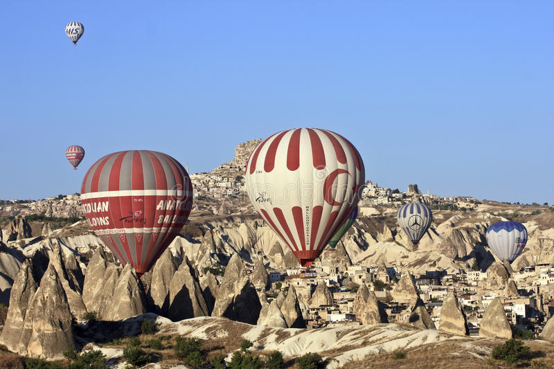 Download Hot Air Ballons editorial stock image. Image of forms - 16171694