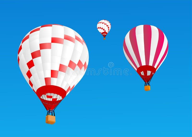 Hot air ballons 2 royalty free illustration