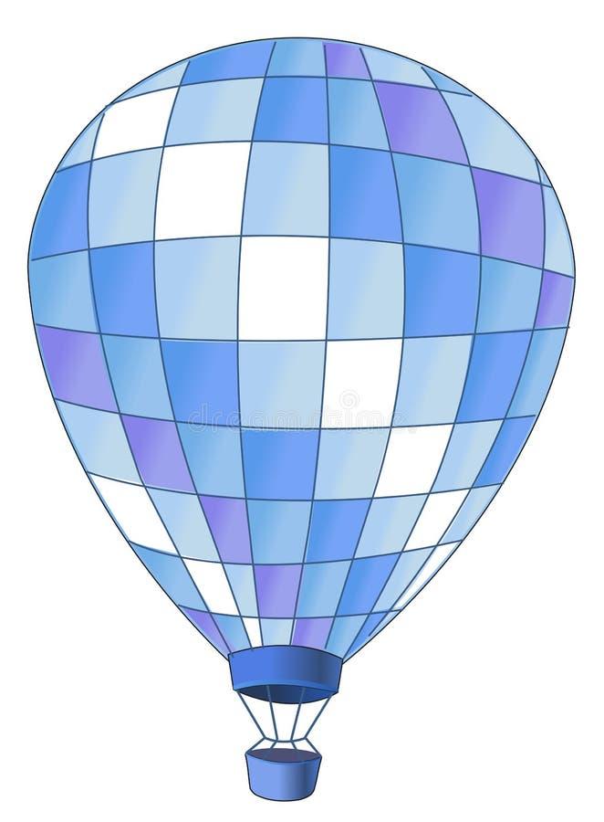 Hot air balloon royalty free illustration