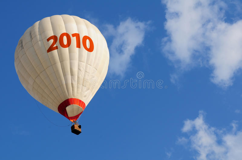 Hot air balloon. And blue sky royalty free stock images