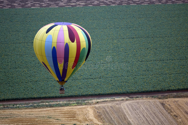 Download Hot air balloon stock image. Image of landscape, canvas - 14383349