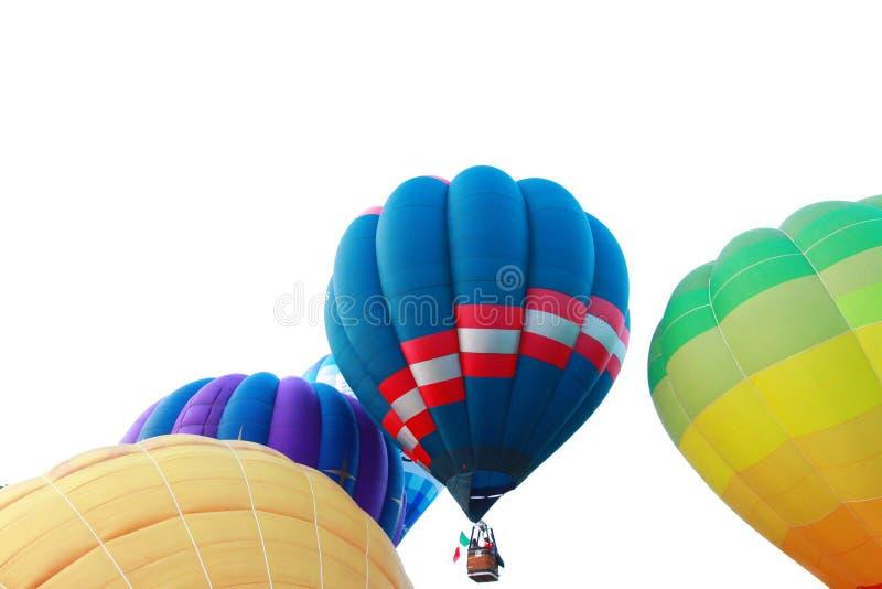 Hot air balloon. The Hot air balloon floating stock photos