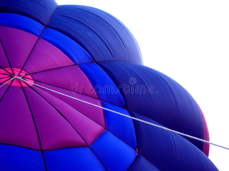 Hot Air Balloon. Purple and blue hot air balloon royalty free stock photo