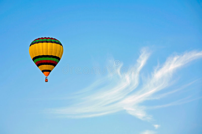 Download Hot Air Balloon stock photo. Image of isolated, cloudy - 4602010