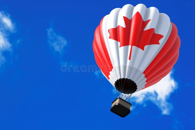 Hot Air Balloon as Canada Flag stock images