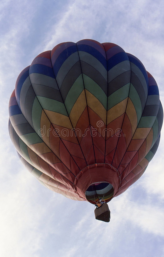 Download Hot Air Balloon ascending stock image. Image of moon, basket - 6432859