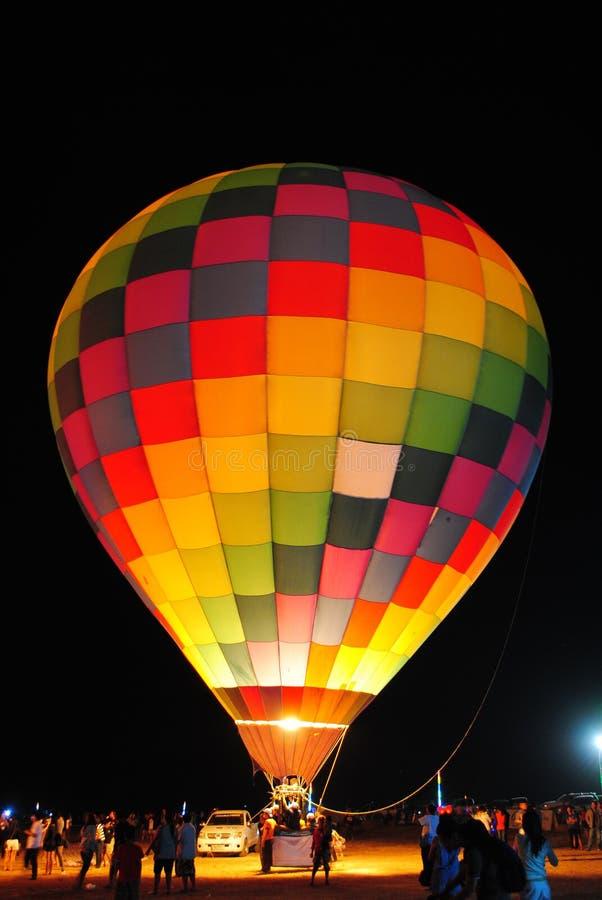 Free Hot Air Balloon At Night. Stock Images - 18153614