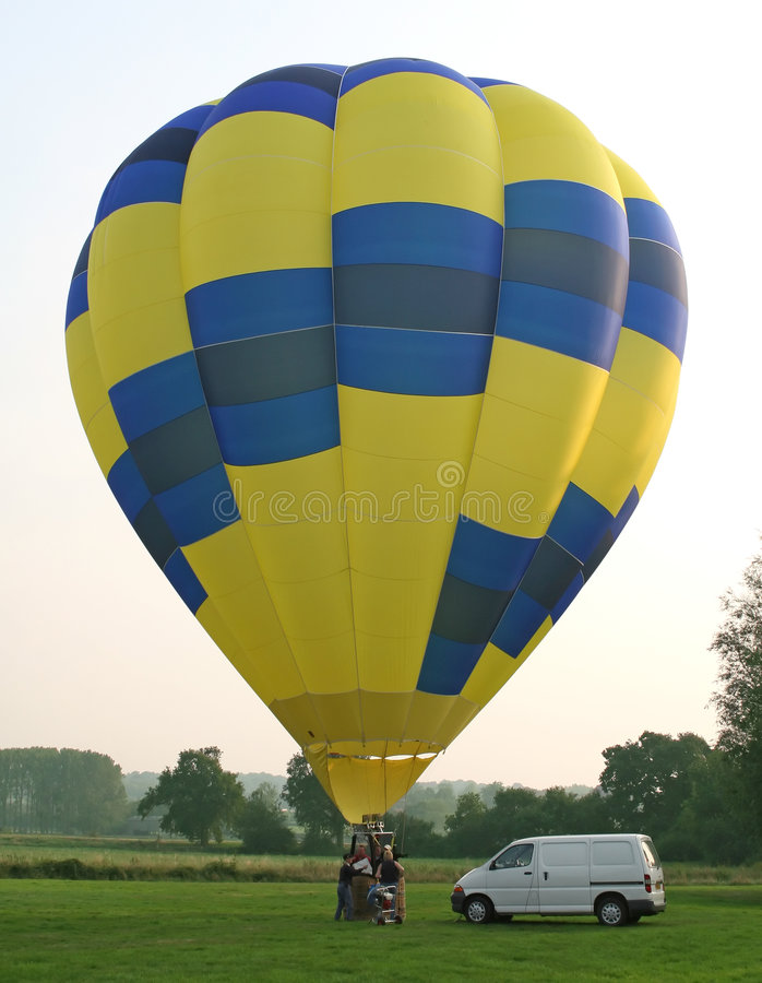 Hot air balloon and basket stock images