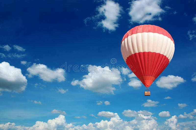Download Hot Air Balloon And Blue Sky Stock Photo - Image: 22475792