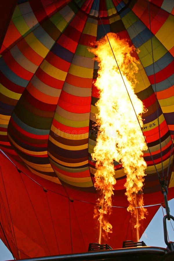 Hot Air Balloon Burning Air stock photo