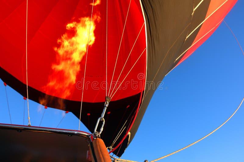 Hot Air Balloon Closeup Fire stock photo