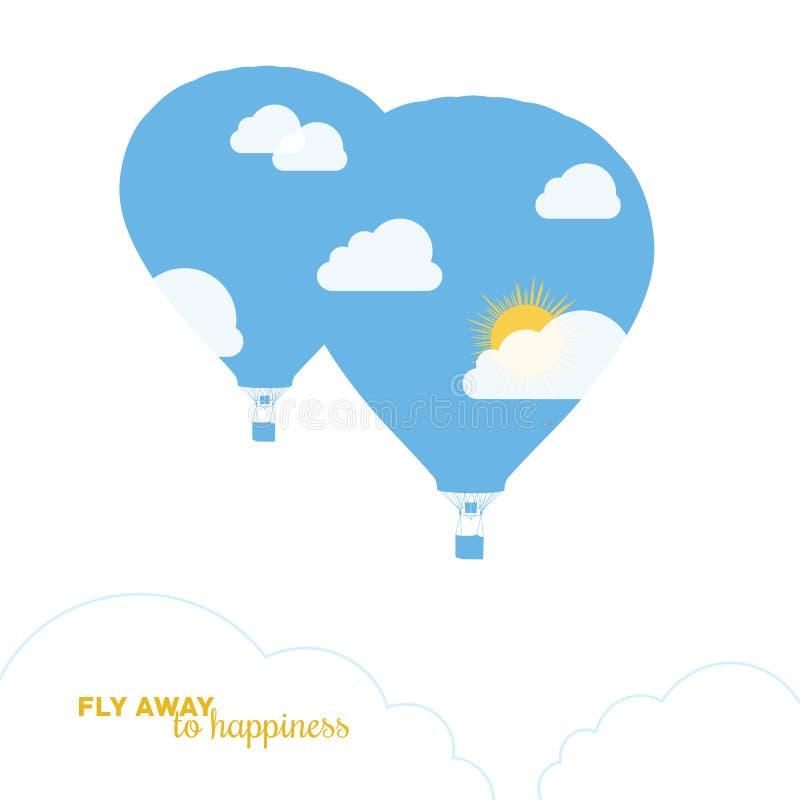 Hot air balloon, colorful abstract vector vector illustration