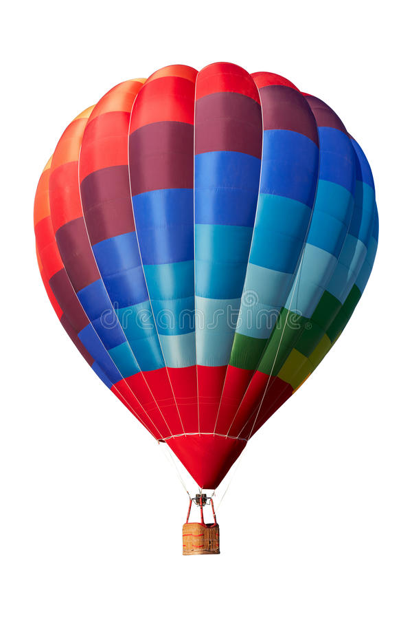 Free Hot Air Balloon, Colorful Aerostat On White, Clipping Path Royalty Free Stock Image - 85781786