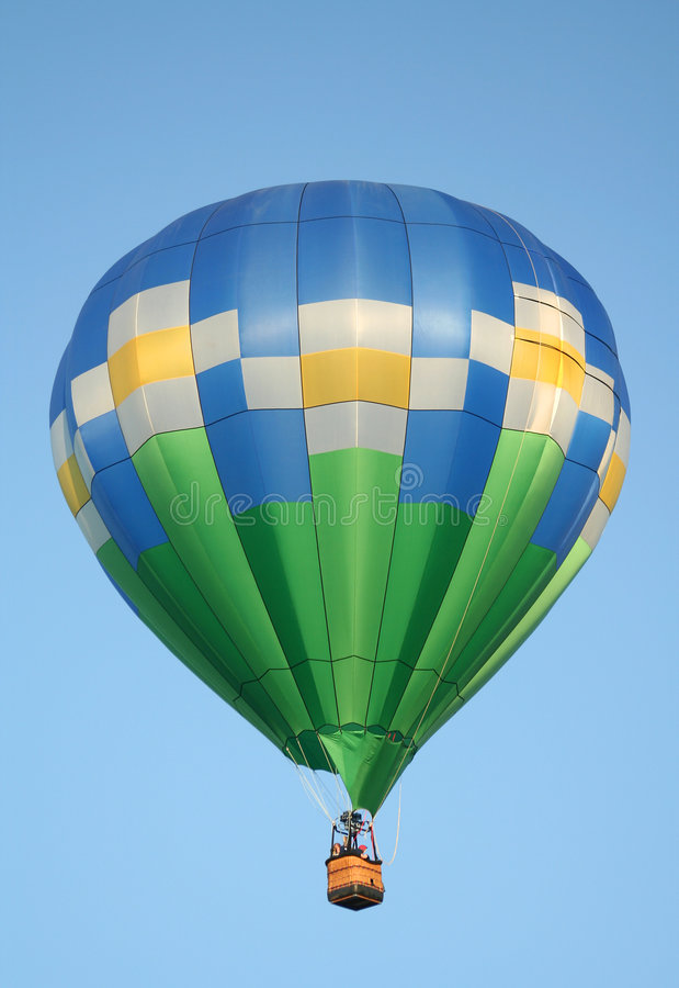 Hot Air Balloon with Daisies stock images