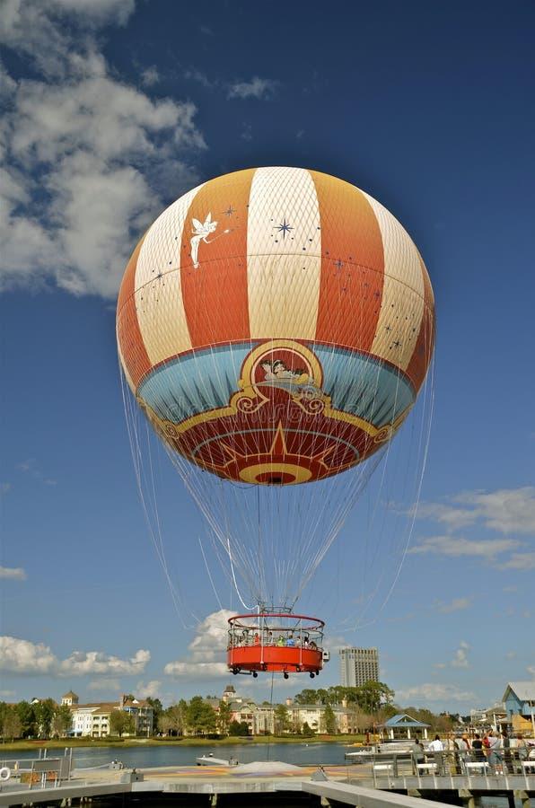 Hot air balloon at Downtown Disney royalty free stock photography