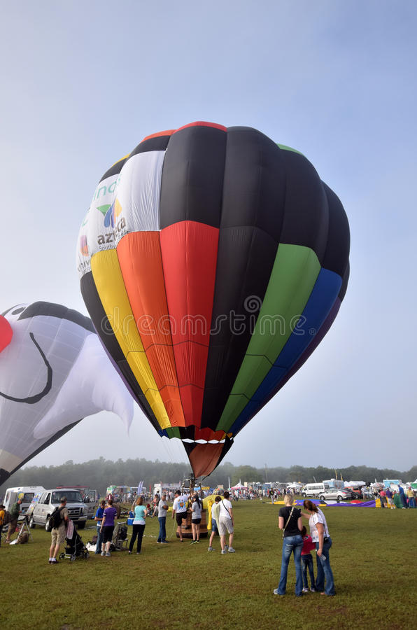 Hot air balloon festival in Florida. Immokalee, USA - April 11, 2015: Colorful hot air ballons take flight on the morning of April 11, 2015 in Immokalee Florida royalty free stock photography