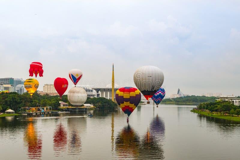 Hot air Balloon. Festival at Putrajaya, March 2019 royalty free stock image
