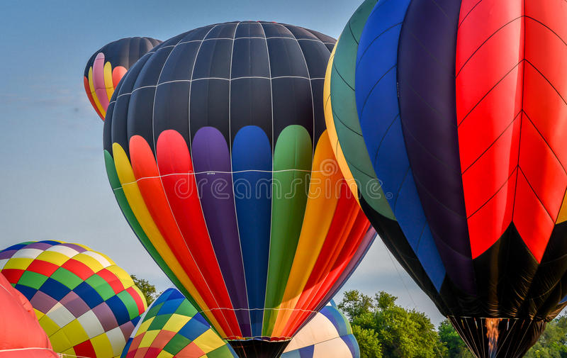 Hot Air Balloon Festival in Waterford, WI. Balloon Festival in Waterford, WI royalty free stock image
