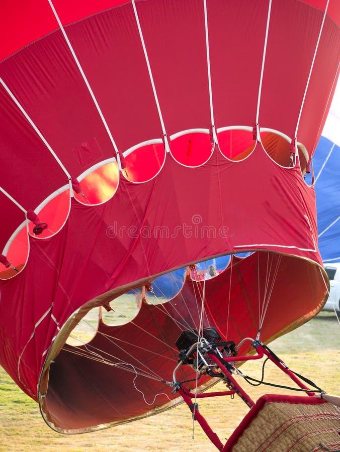Hot Air Balloon Filling royalty free stock photography