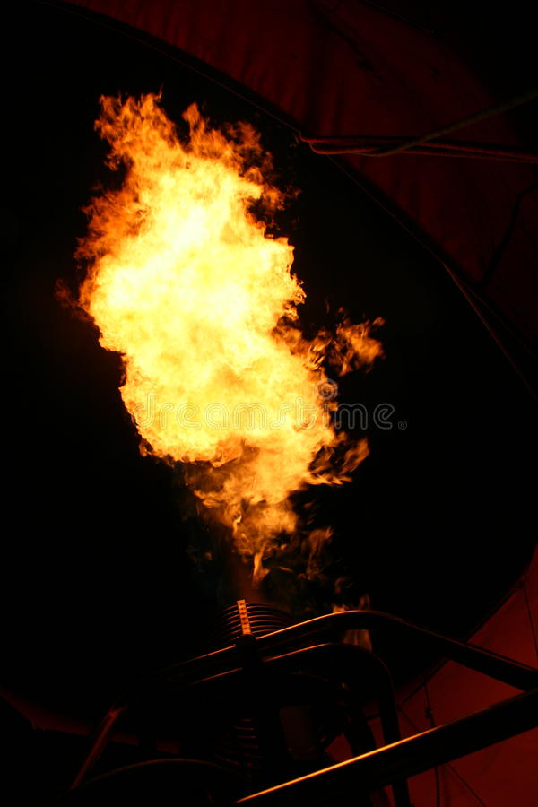 Hot air balloon flame stock images