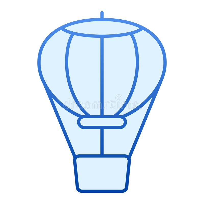 Hot air balloon flat icon. Air transport blue icons in trendy flat style. Travel gradient style design, designed for web. And app. Eps 10 vector illustration
