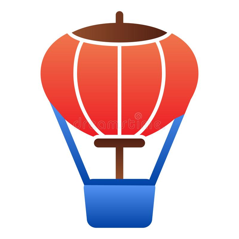 Hot air balloon flat icon. Air transport color icons in trendy flat style. Travel gradient style design, designed for. Web and app. Eps 10 royalty free illustration