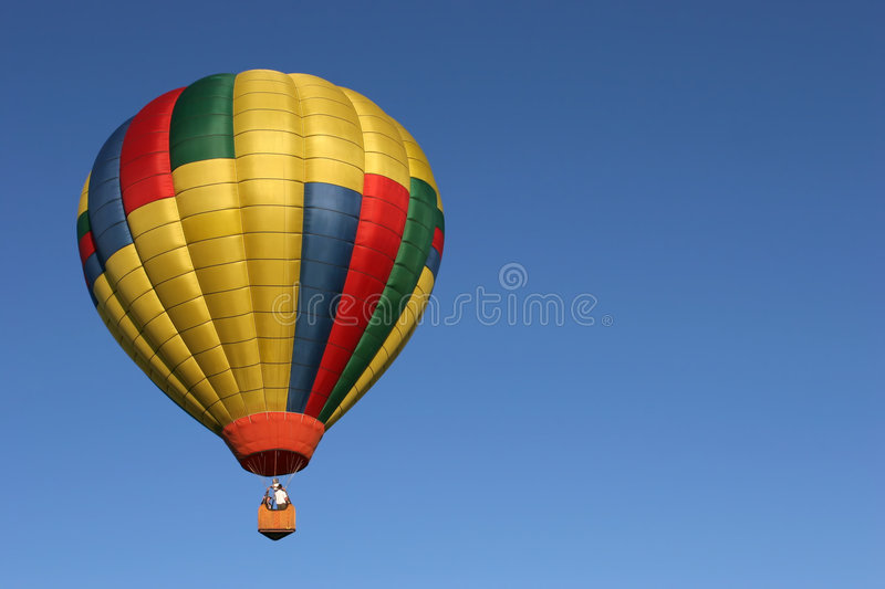 Download Hot air balloon in flight stock image. Image of cold, people - 194929