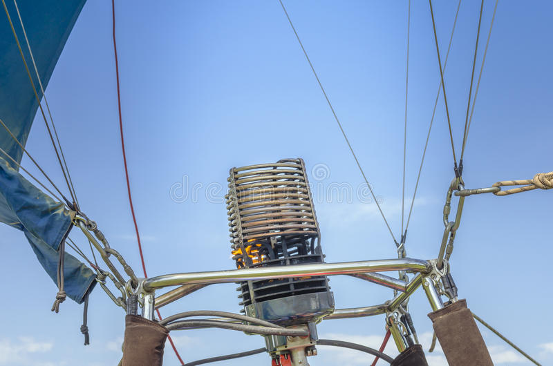 Hot air balloon gas burner stock photography
