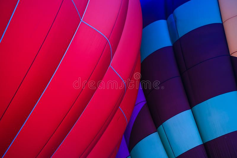 Hot air balloon glow festival stock photo