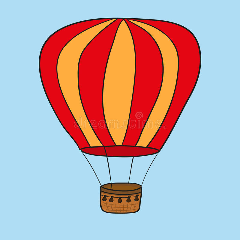 Hot air balloon. illustration royalty free stock photography