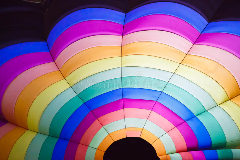 Hot air balloon inside royalty free stock photography