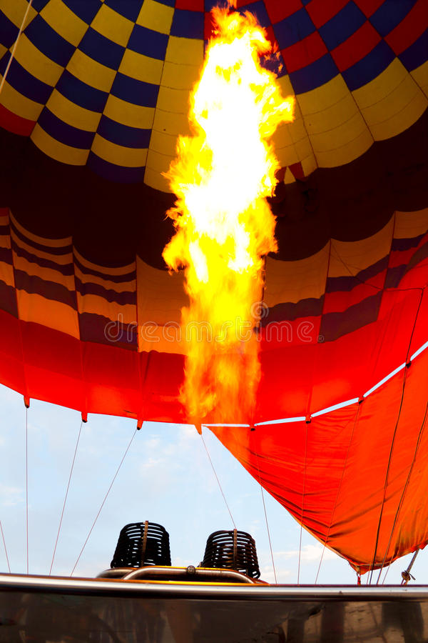 Hot air balloon of Luxor at night stock photography