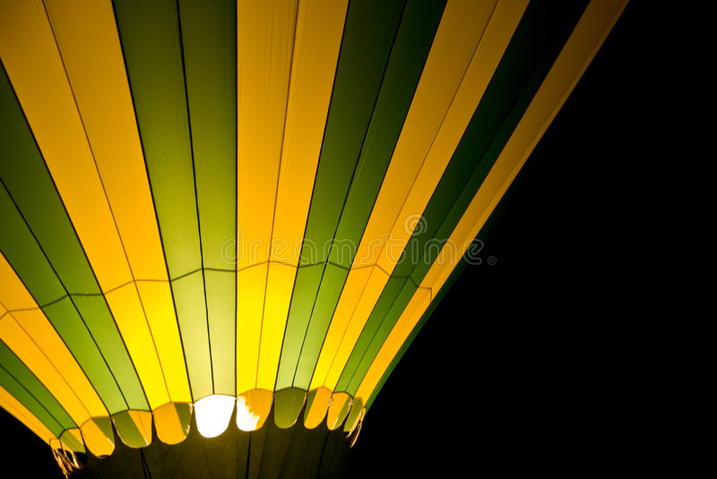 Download Hot Air Balloon at Night stock photo. Image of closeup - 3993228