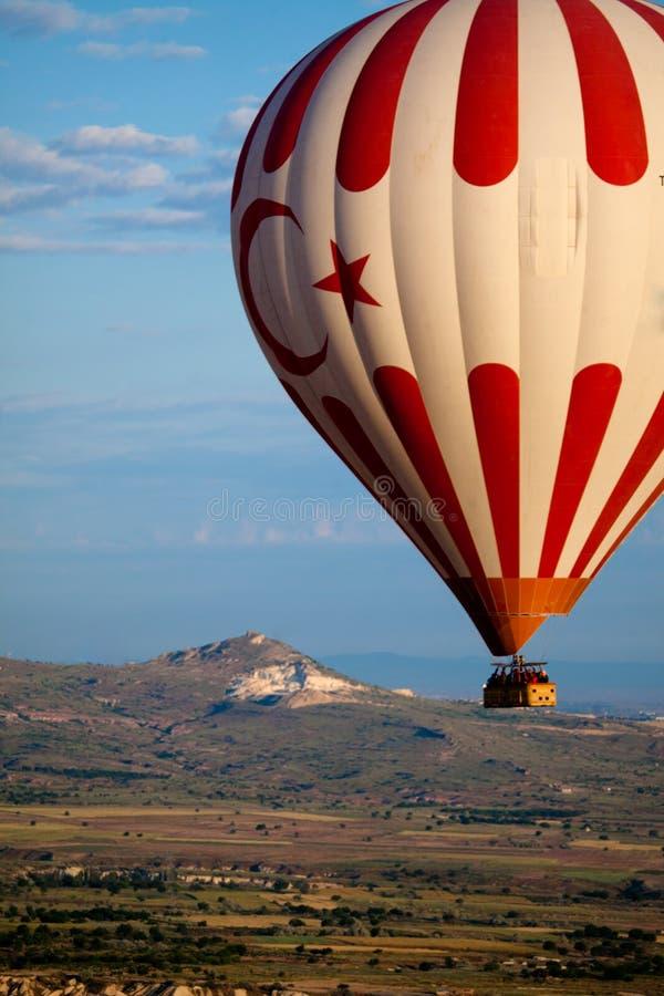 Hot Air Balloon Over Cappadocia stock photos