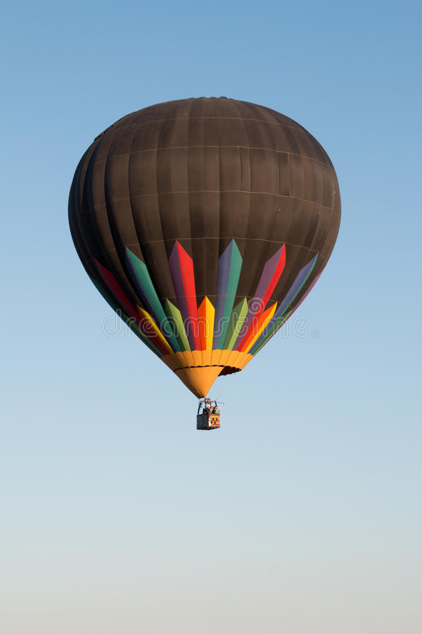 Hot Air Balloon Over North Phoenix Desert stock images