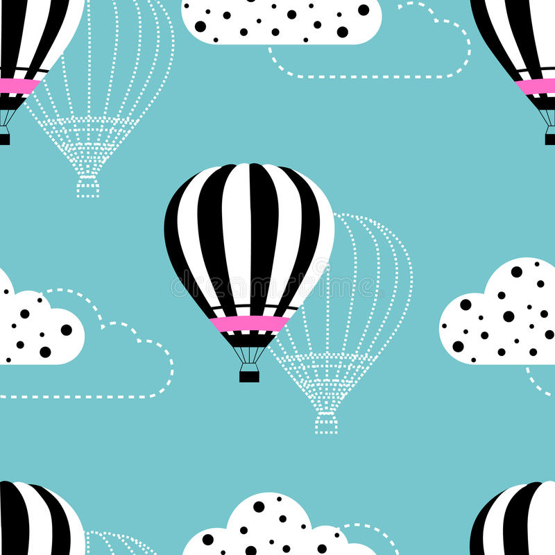 Hot air balloon pattern royalty free stock photos