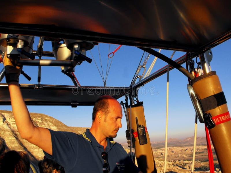 Download Hot Air Balloon Pilot In Cappadocia, Turkey Editorial Stock Photo - Image: 22593403