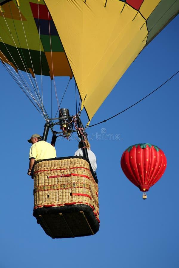 Hot Air Balloon Ride Closeup royalty free stock photography