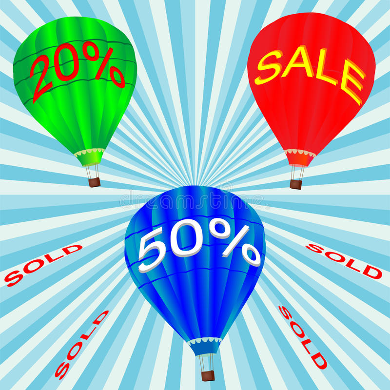 Hot Air Balloon For Sale Stock Photography