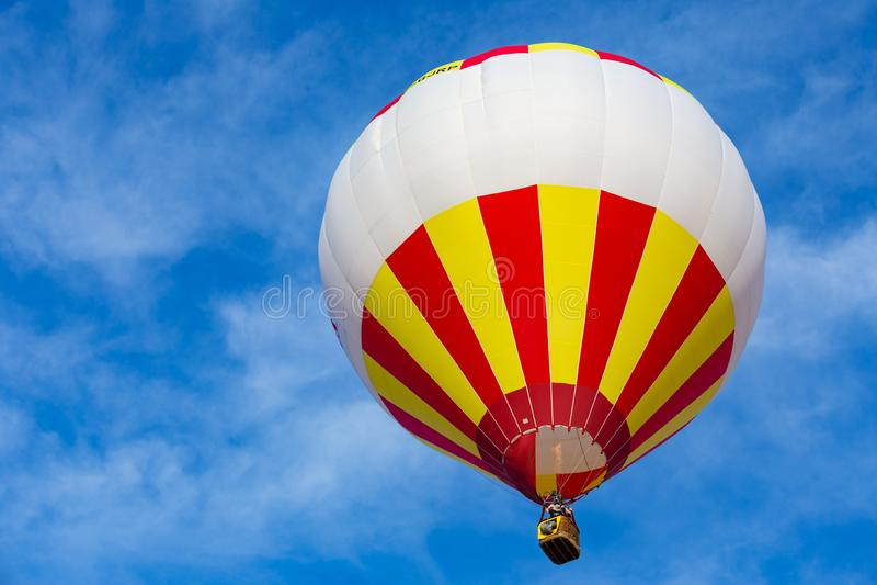 Hot Air Balloon in Blue Sky stock photos