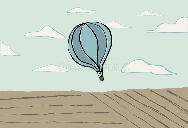 Hot air balloon in the sky royalty free stock image