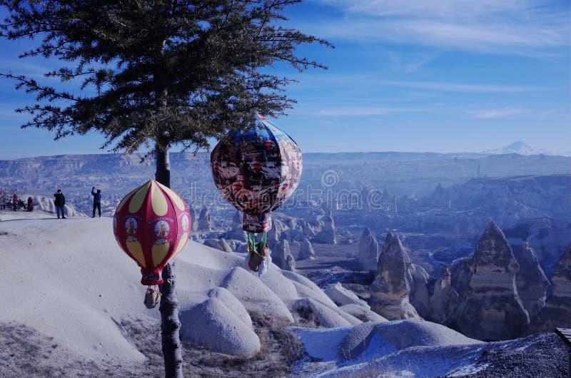 Hot air balloon souvenirs and unique features of Cappadocia stock photos