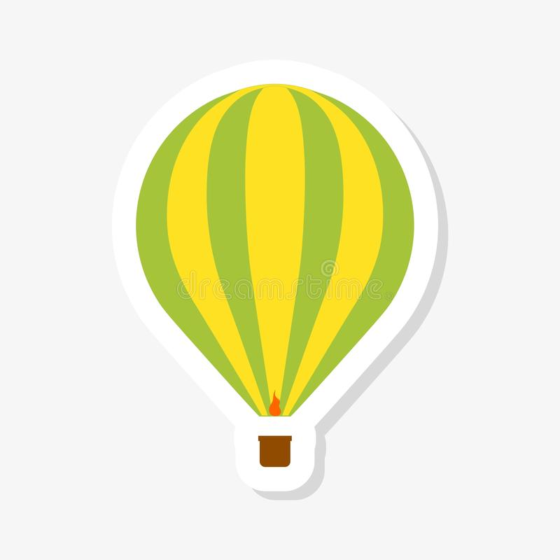 Hot air balloon sticker vector illustration