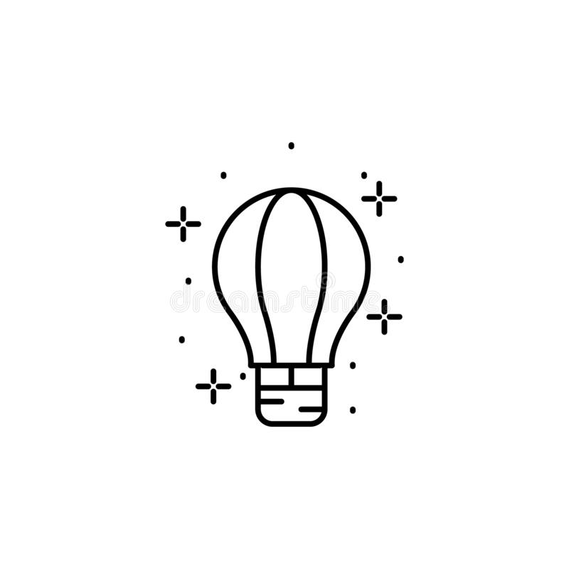 Hot air balloon, transport icon. Element of geography icon. On white background royalty free illustration