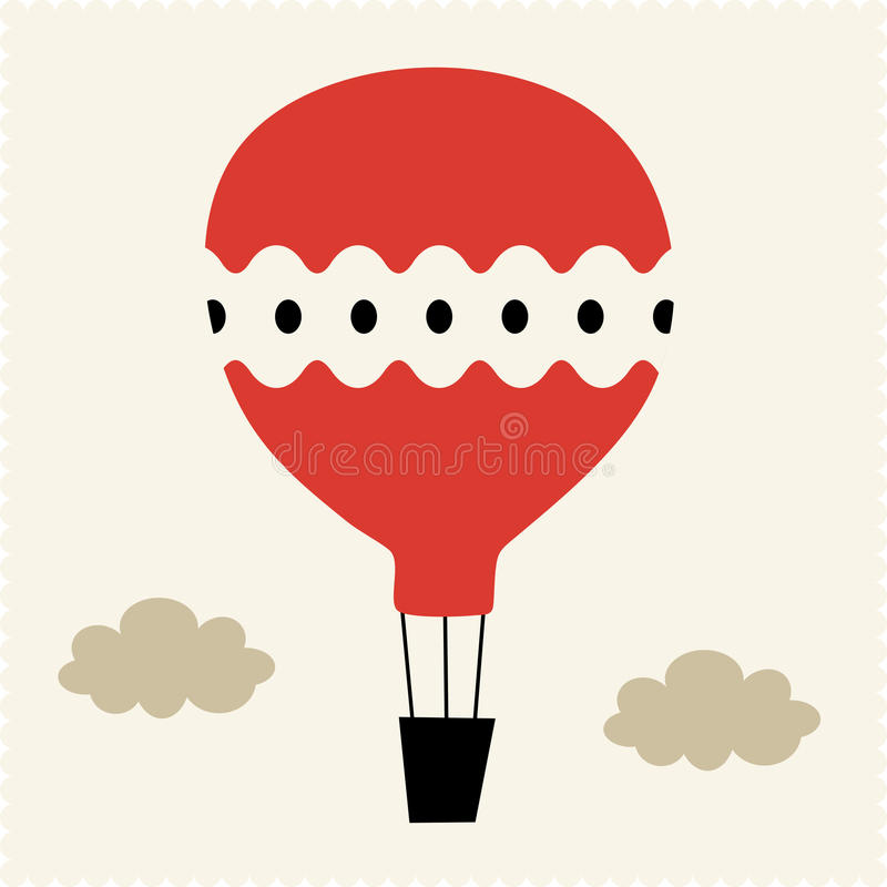 Hot-air balloon Vector Illustration royalty free illustration