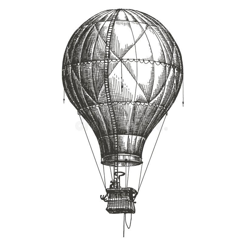 Free Hot Air Balloon Vector Logo Design Template. Retro Royalty Free Stock Photography - 51189687